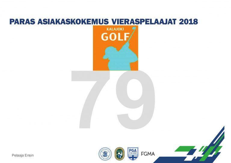 Golfin valtakunnallisilla toimialapäivillä Kalajoki Golf ykkösenä